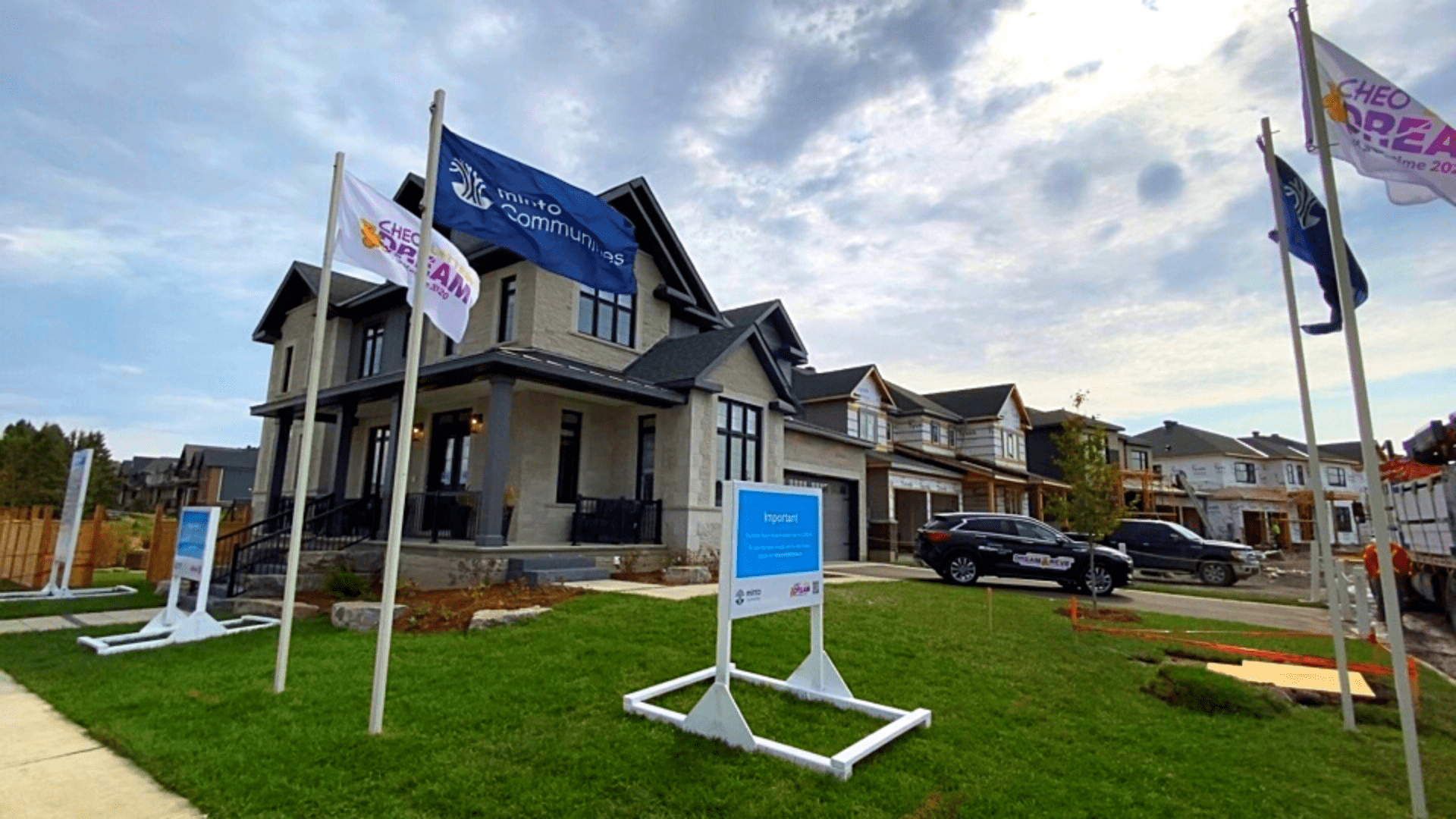 cheo dream of a lifetime home with flags out front