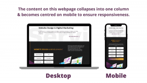 image of the U7 Solutions homepage on a desktop and mobile device