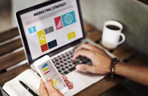 Marketing Strategy displaying on desktop and mobile screens