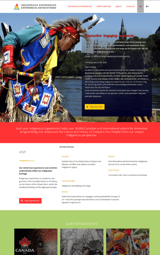 Indigenous Experiences home