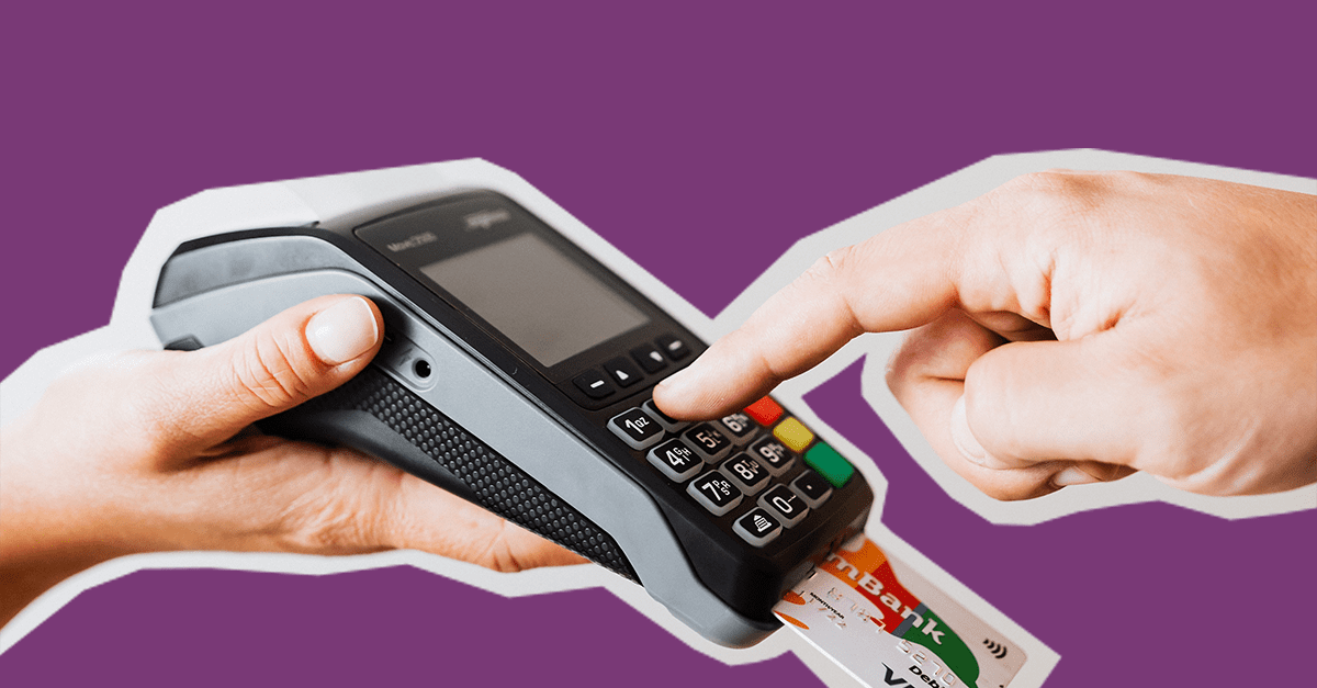 Graphic with a payment device