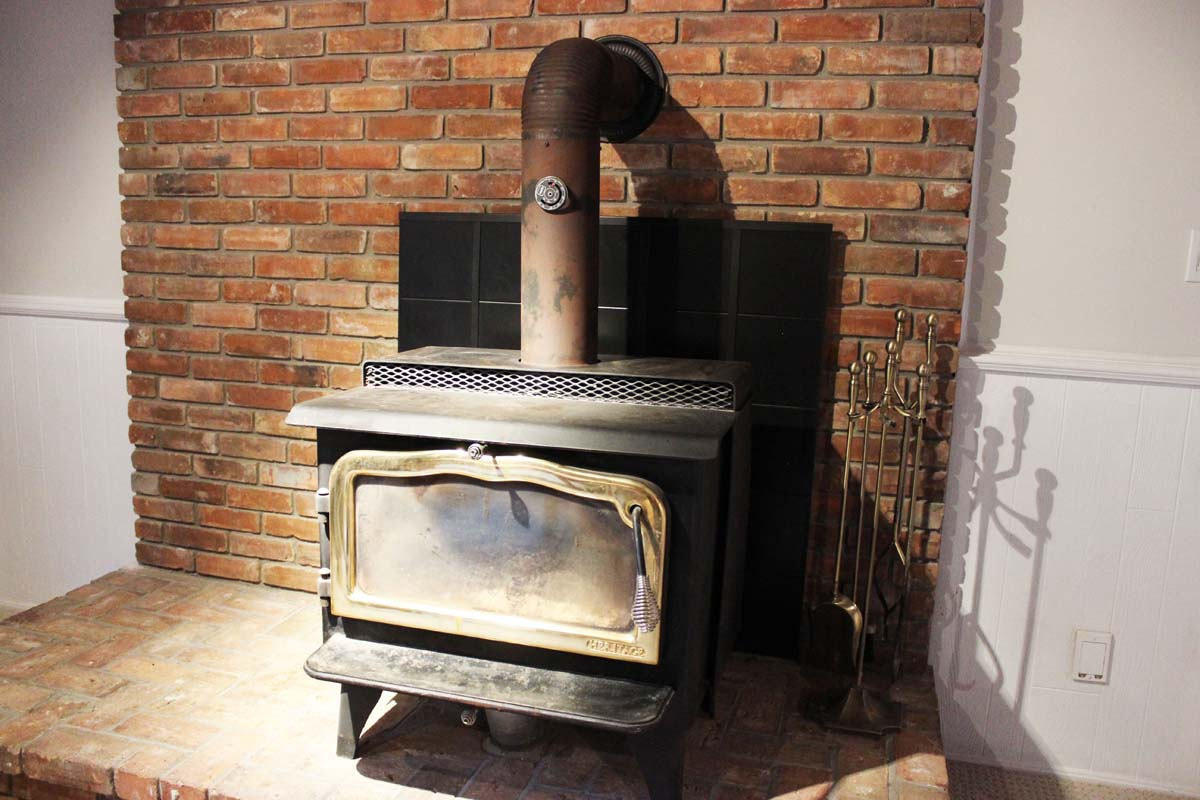 fireplace at the farm rehab
