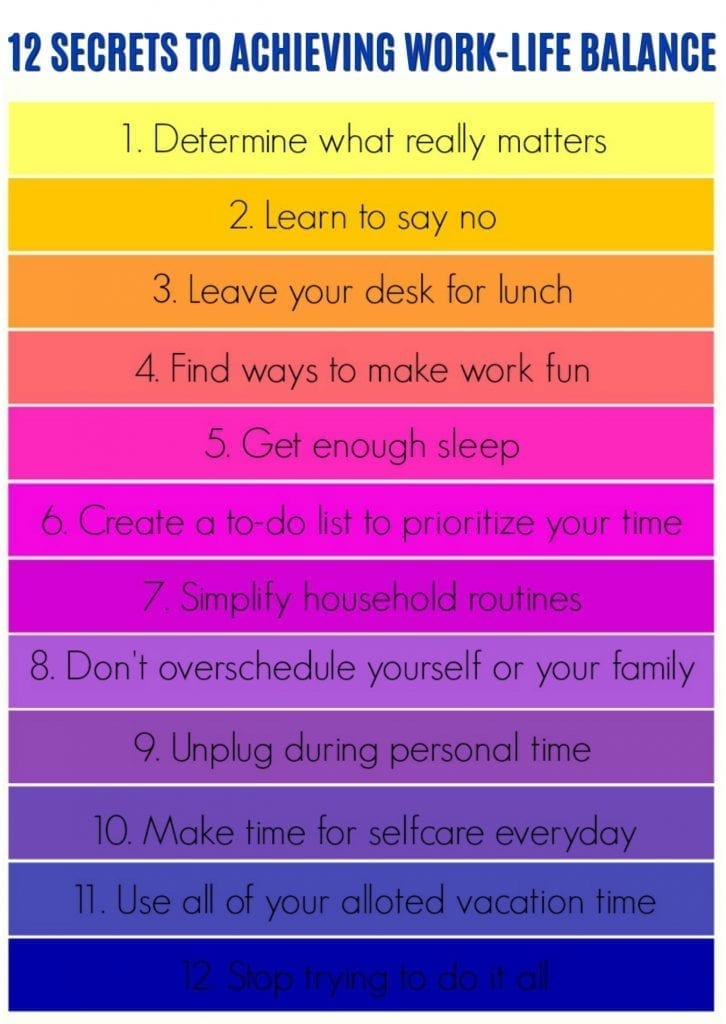 10 Secrets to Achieving Work-Life Balance