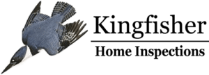 Kingfisher bird flying as part of Kingfisher Home Inspections logo