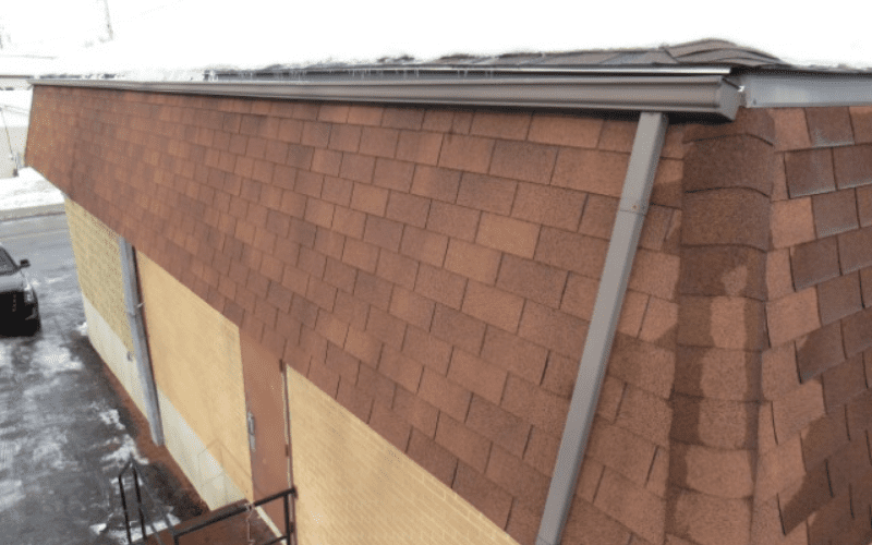 rooftop of a commercial building