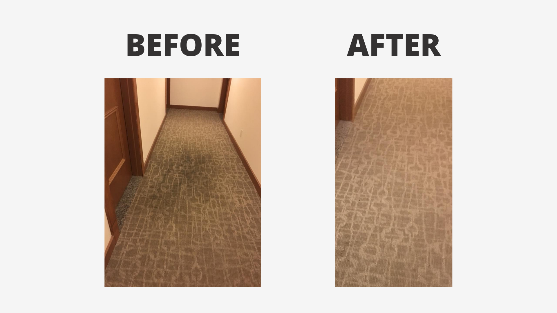 before and after cleaning image of office floor