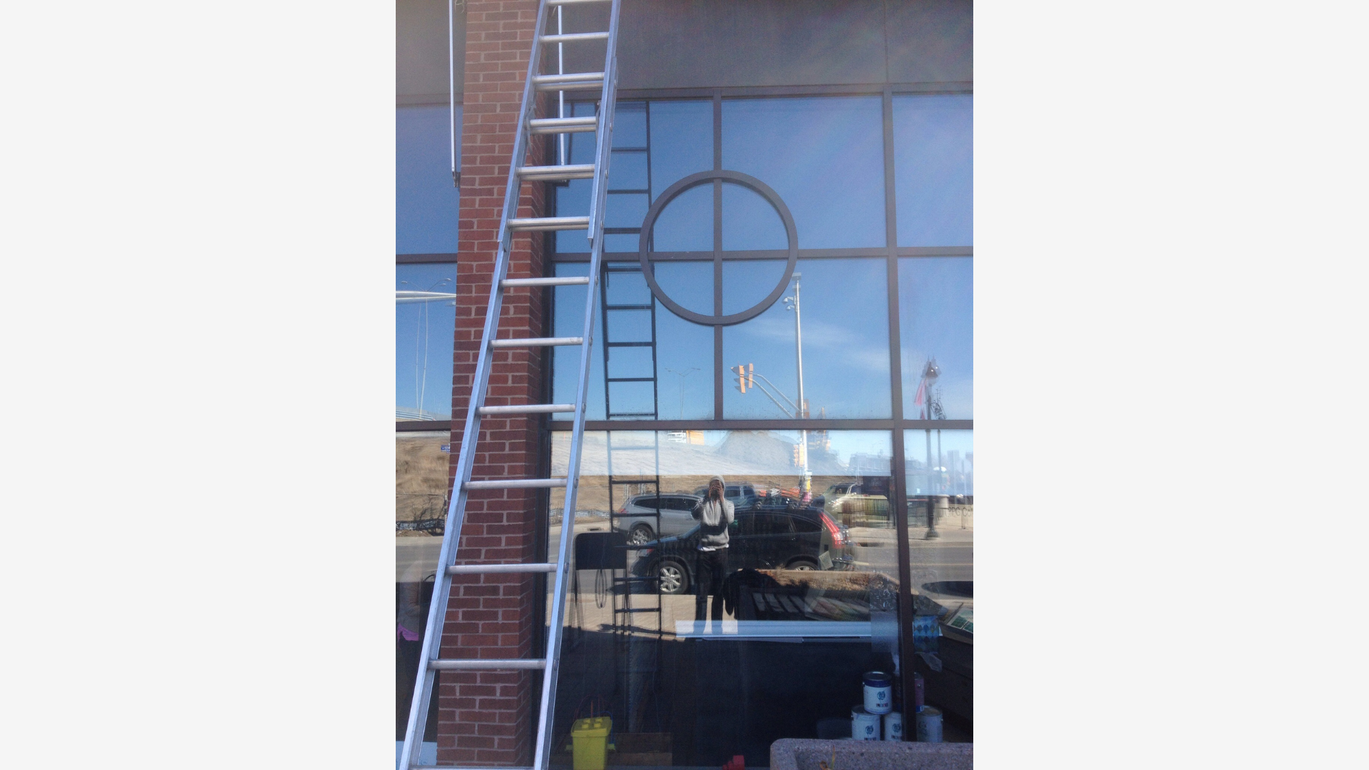 large window after being cleaned