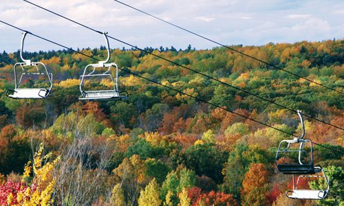 Chairlift rides at the Peaks
