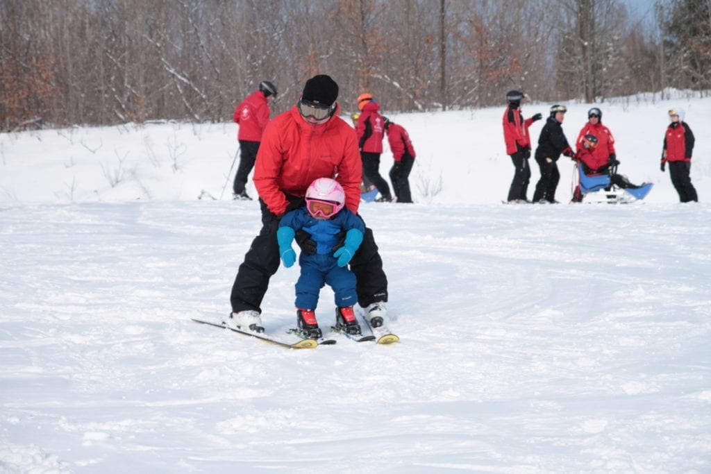 Skiing with a toddler at the Peaks