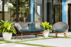 Gift mom with outdoor patio furniture for mother's day.