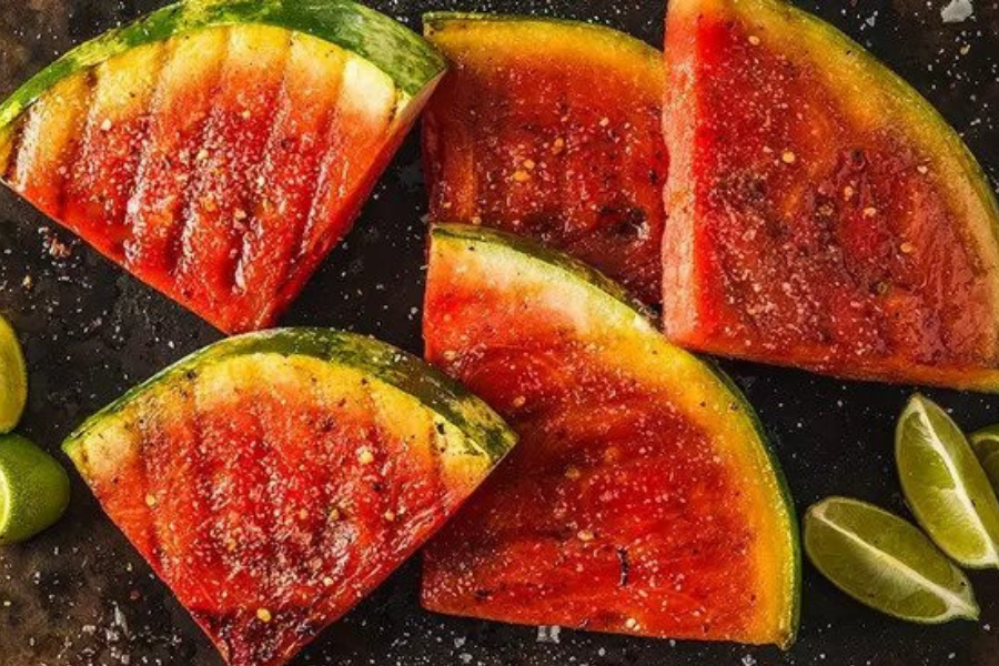 Watermelon grilling recipe for summer.