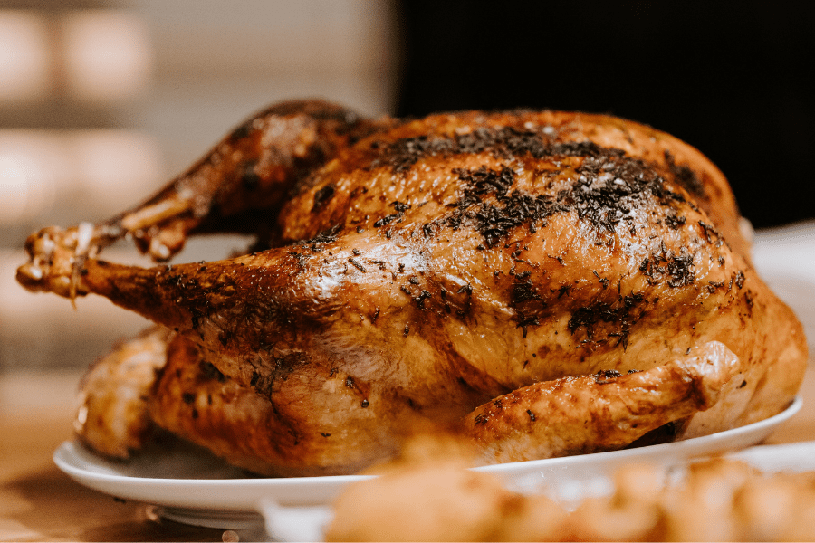 Turkey from Thanksgiving dinner on your BBQ