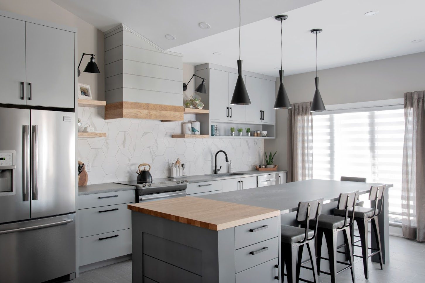Remodelled kitchen with wood features